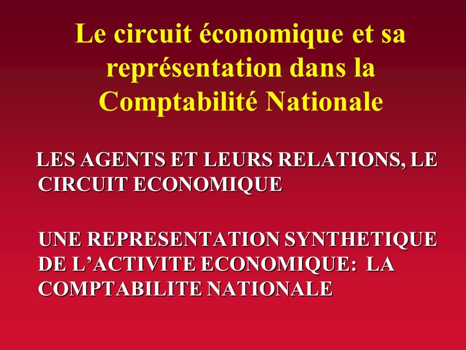 Le circuit économique et sa représentation dans la Comptabilité Nationale