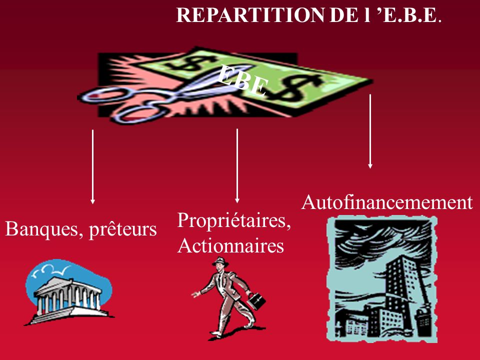 EBE REPARTITION DE l 'E.B.E. Autofinancemement