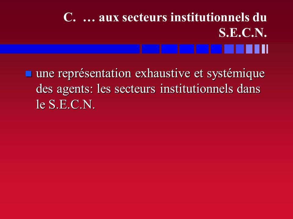 C. … aux secteurs institutionnels du S.E.C.N.