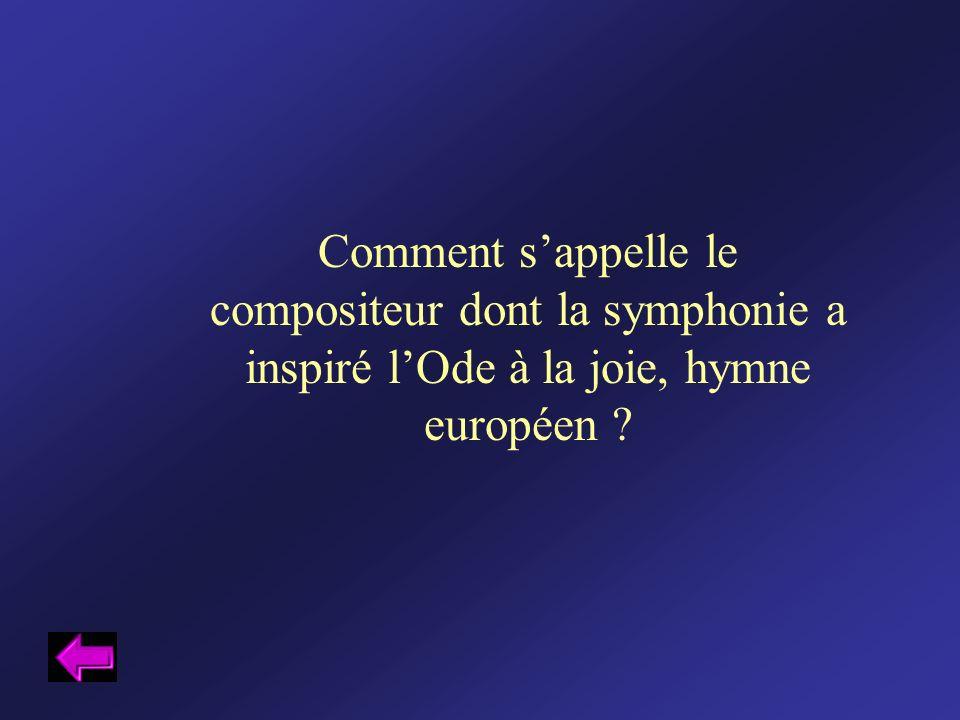 Comment s'appelle le compositeur dont la symphonie a inspiré l'Ode à la joie, hymne européen