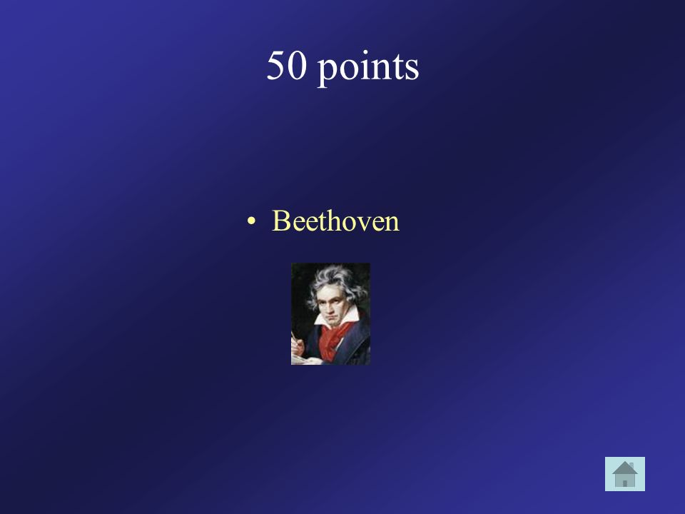 50 points Beethoven