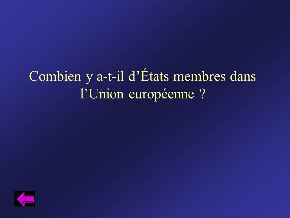 Combien y a-t-il d'États membres dans l'Union européenne