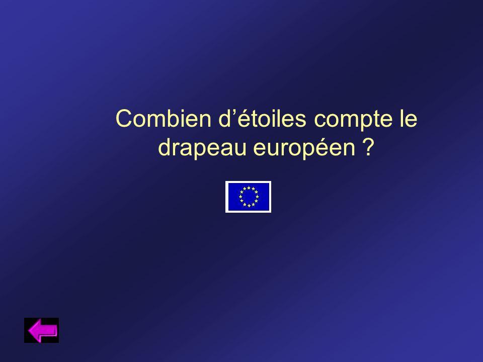 Combien d'étoiles compte le drapeau européen