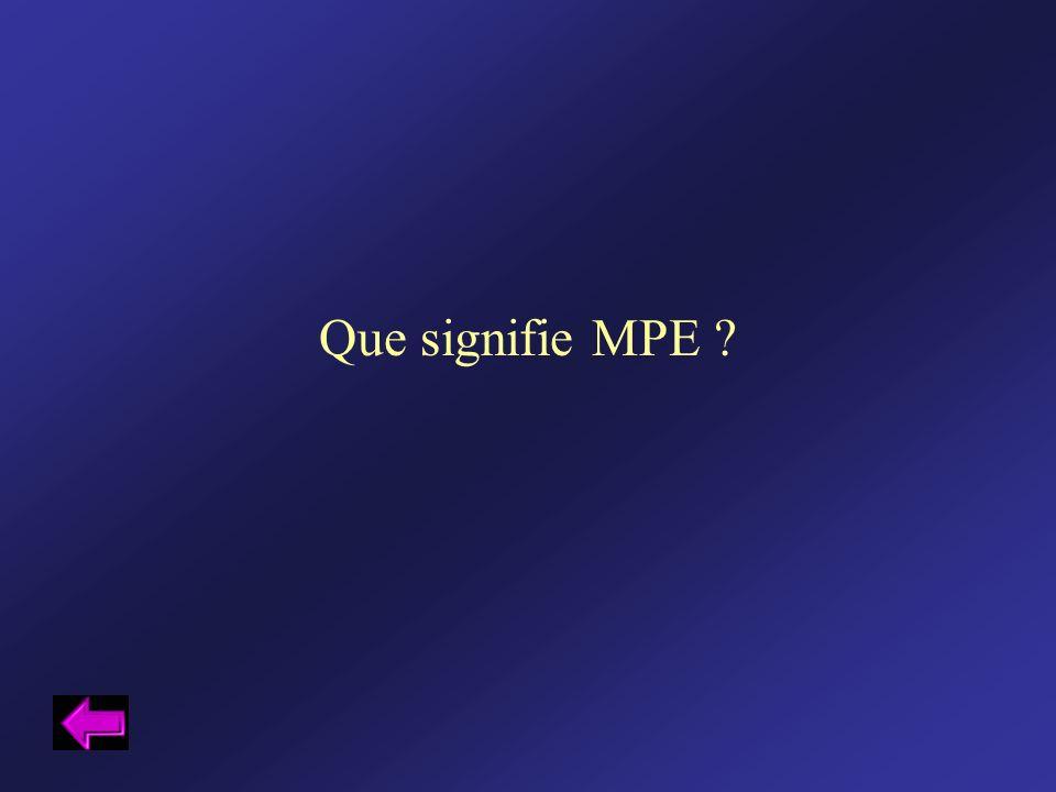 Que signifie MPE
