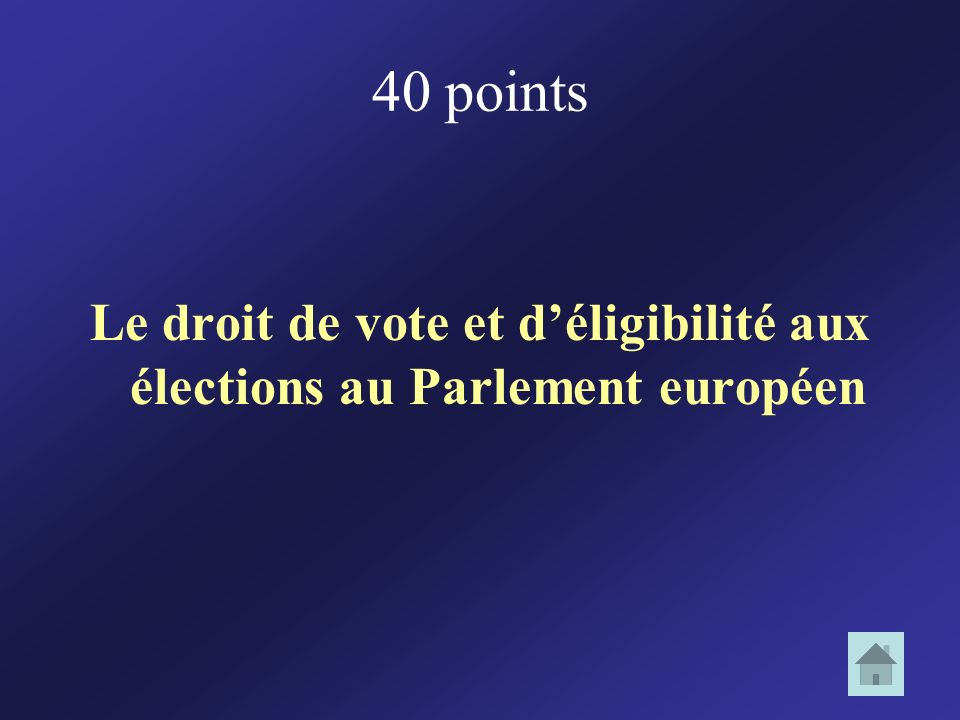 Le droit de vote et d'éligibilité aux élections au Parlement européen