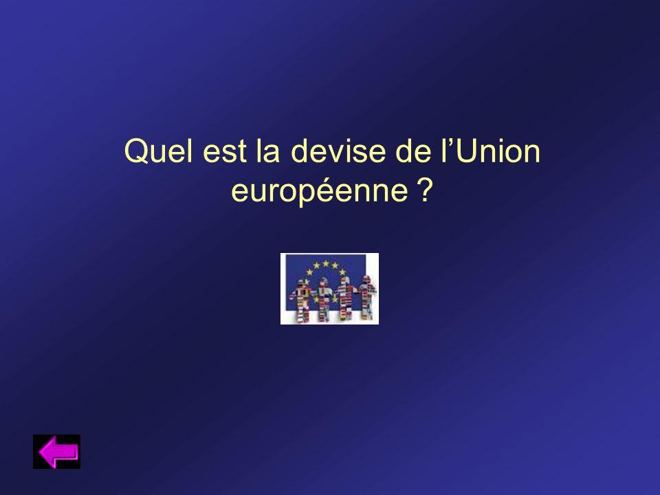 Quel est la devise de l'Union européenne