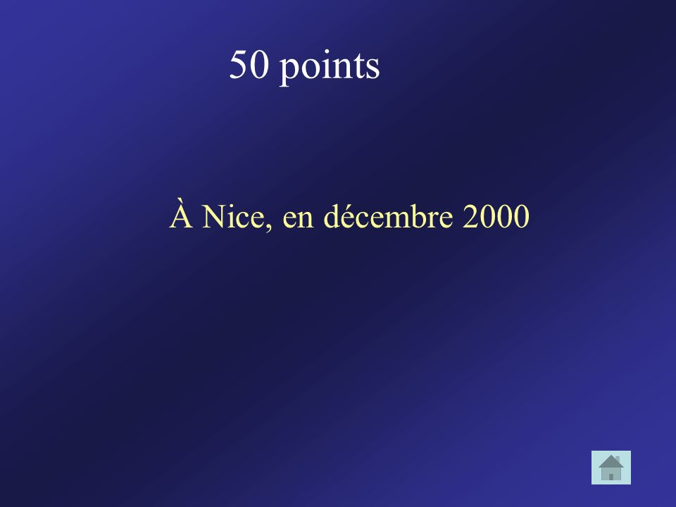 50 points À Nice, en décembre 2000