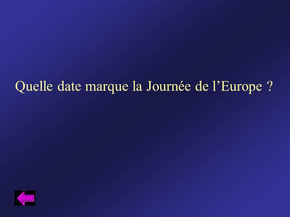 Quelle date marque la Journée de l'Europe