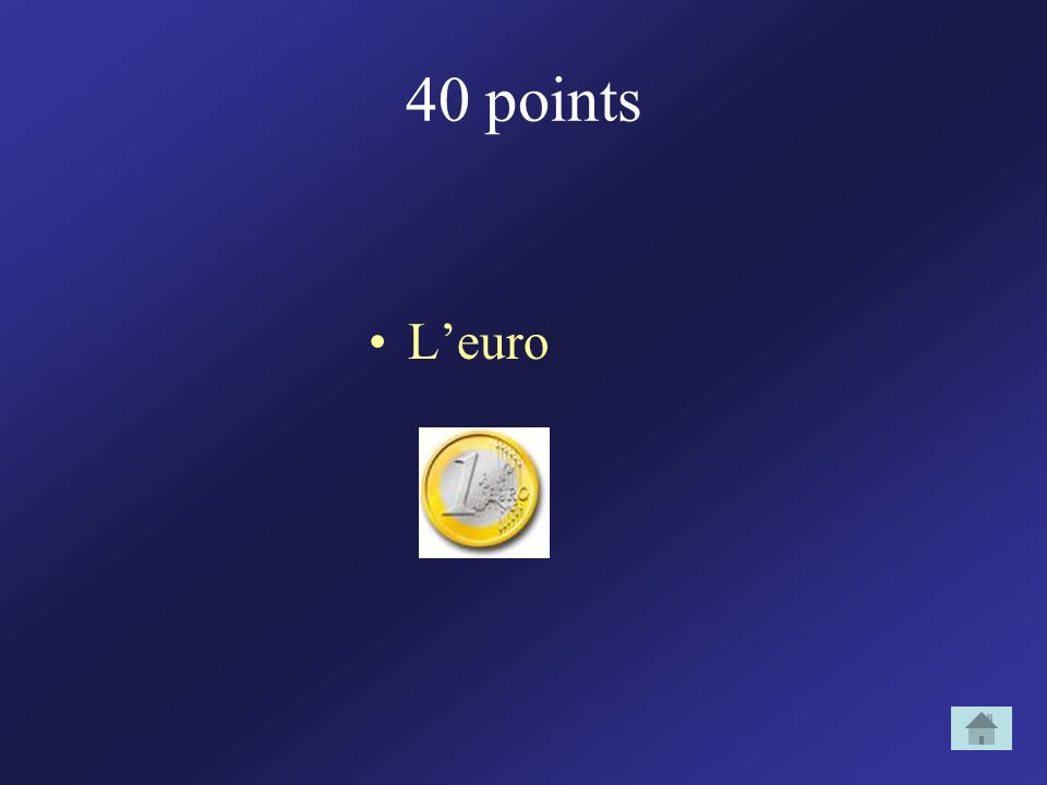 40 points L'euro