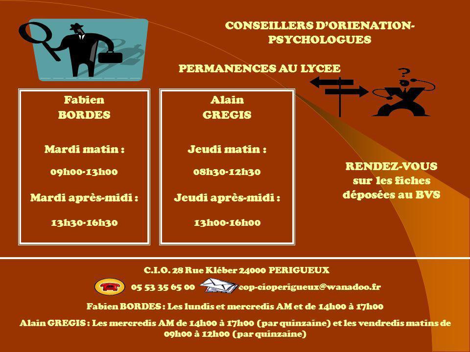 CONSEILLERS D'ORIENATION-PSYCHOLOGUES Lycée Jay de Beaufort
