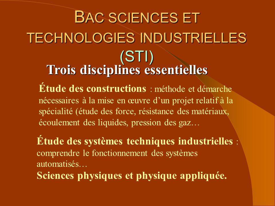 Trois disciplines essentielles