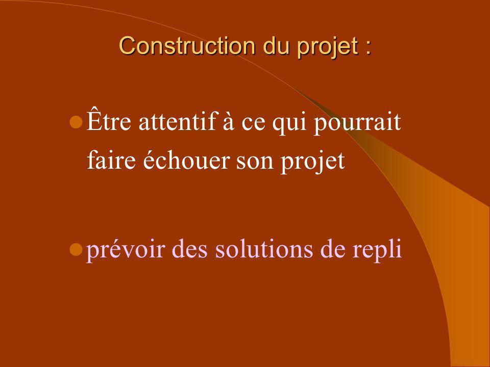 Construction du projet :