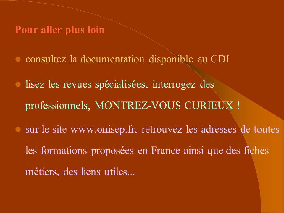 Pour aller plus loinconsultez la documentation disponible au CDI.