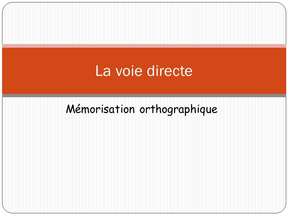 Mémorisation orthographique