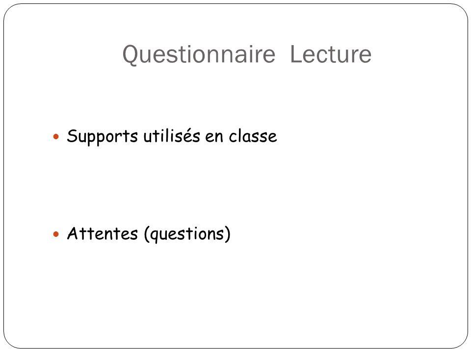 Questionnaire Lecture