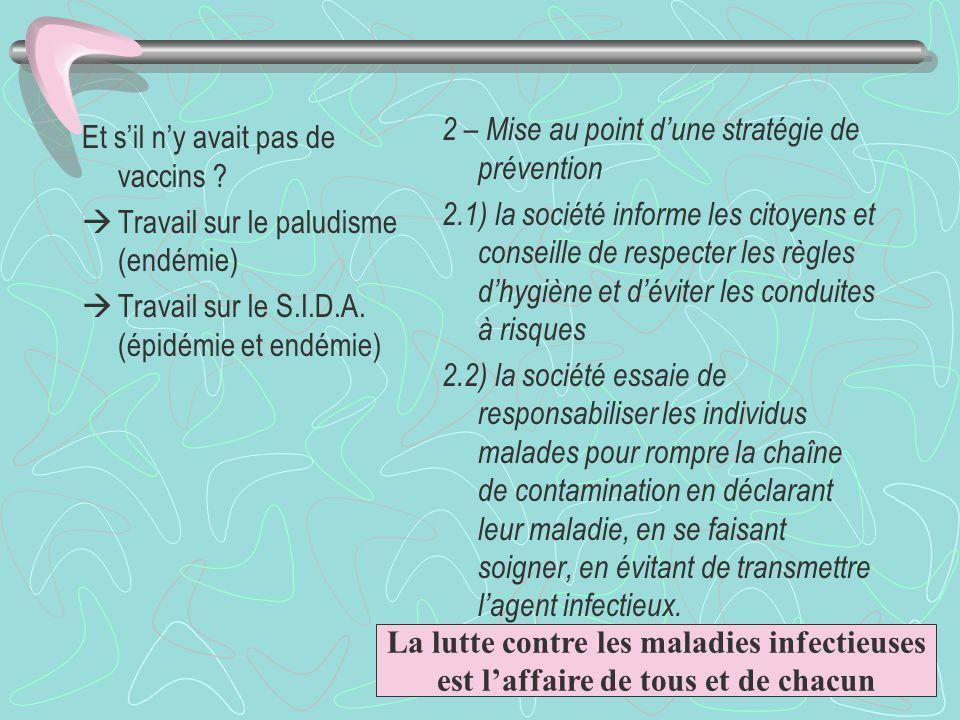 2 – Mise au point d'une stratégie de prévention