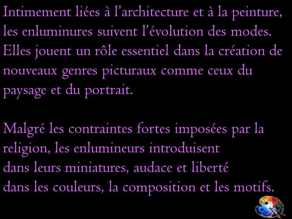 Intimement liées à l'architecture et à la peinture,