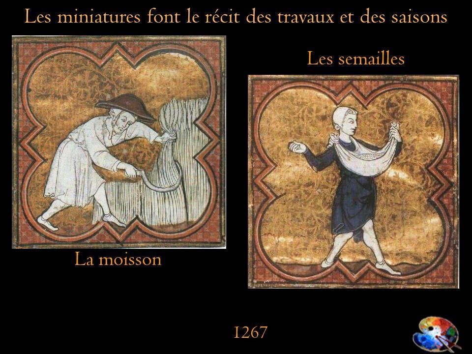 Les miniatures font le récit des travaux et des saisons