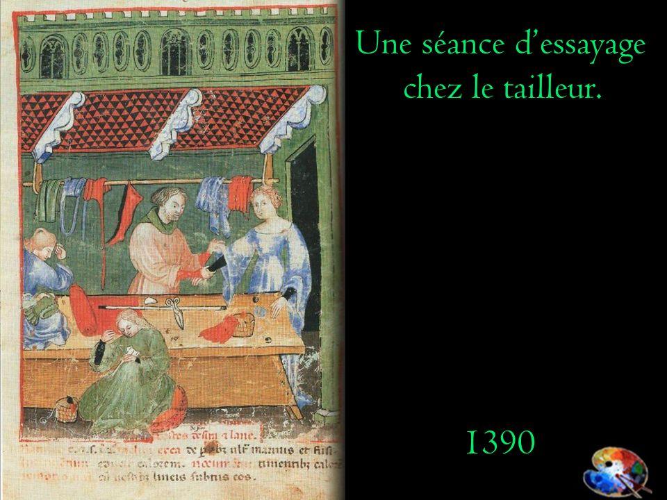 Une séance d'essayage chez le tailleur. 1390