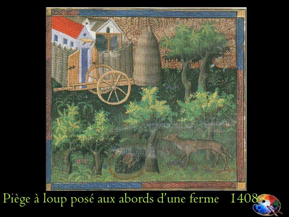Piège à loup posé aux abords d'une ferme 1408