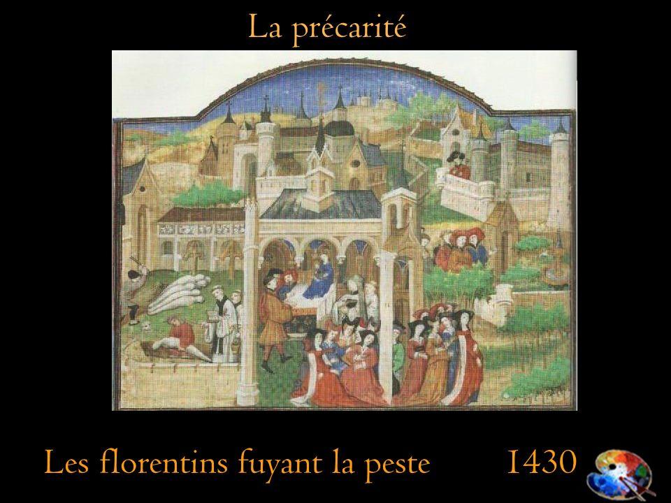 Les florentins fuyant la peste 1430