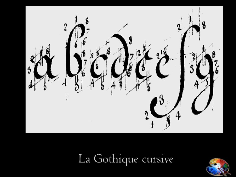La Gothique cursive