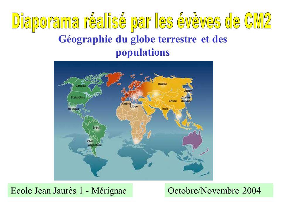 Géographie du globe terrestre et des populations