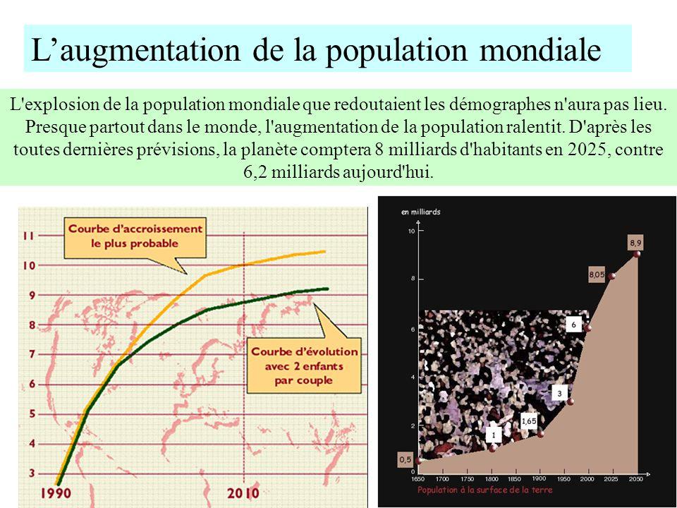 L'augmentation de la population mondiale