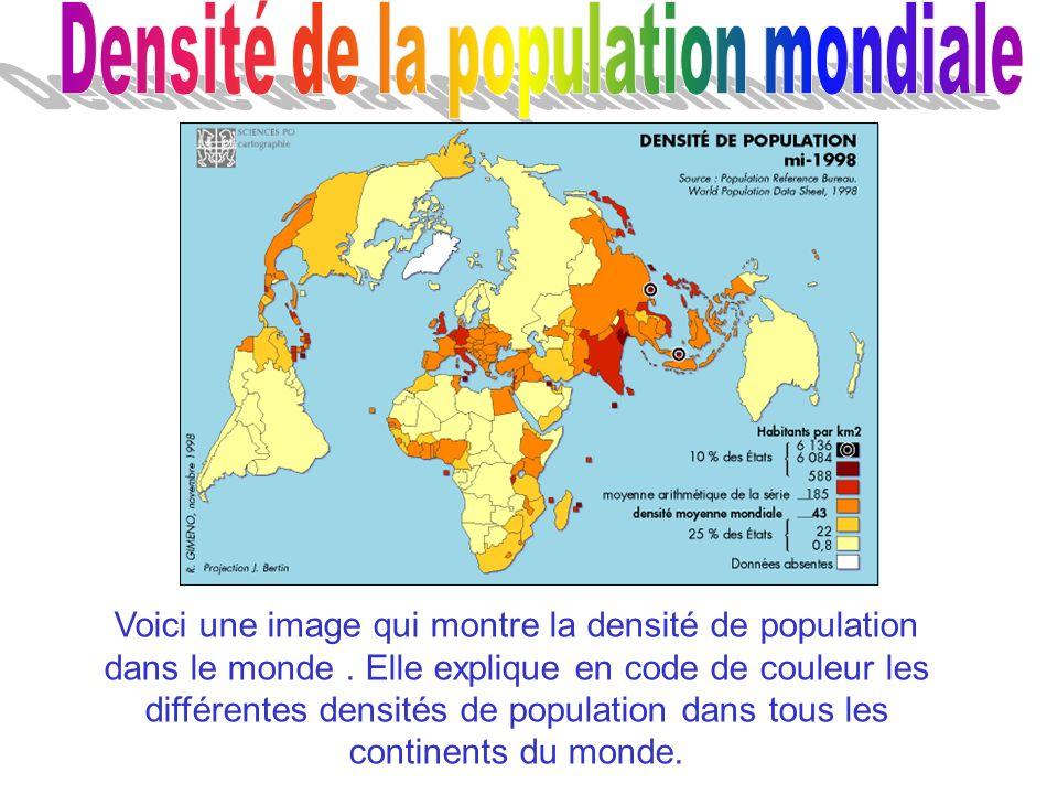 Densité de la population mondiale
