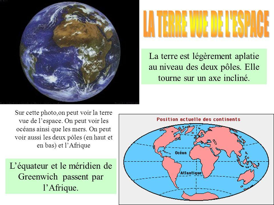 L'équateur et le méridien de Greenwich passent par l'Afrique.