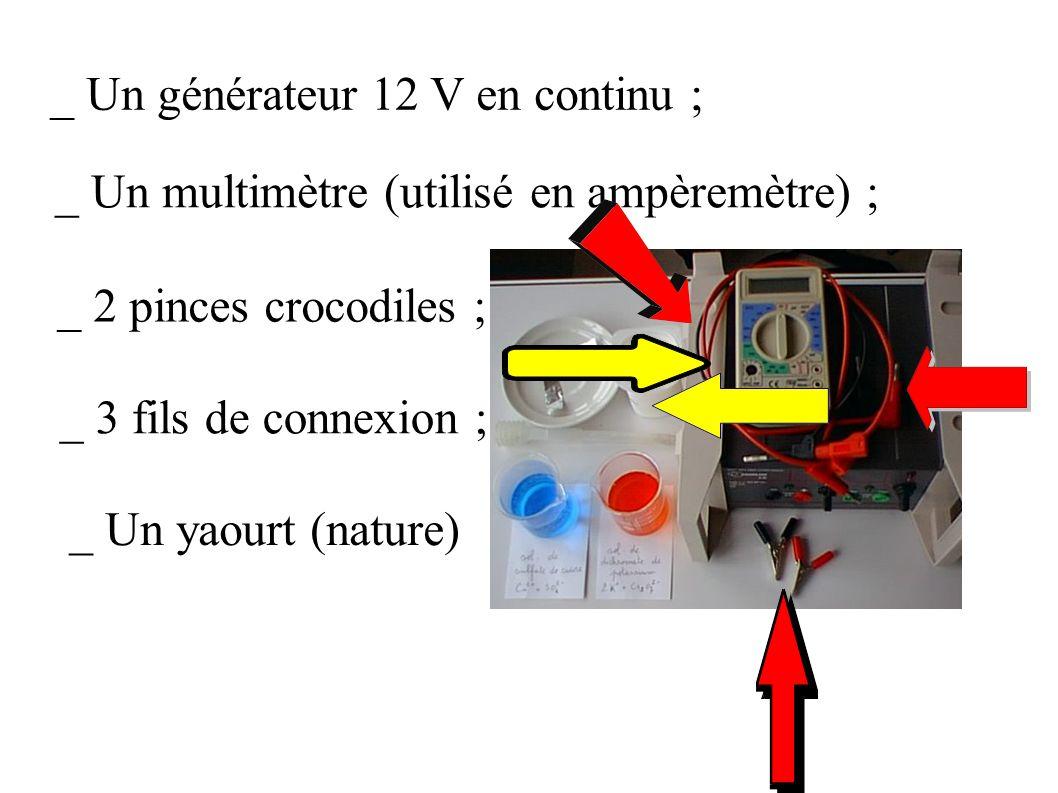 _ Un générateur 12 V en continu ;