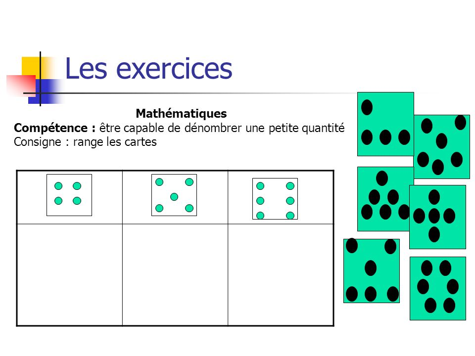 Les exercices Mathématiques