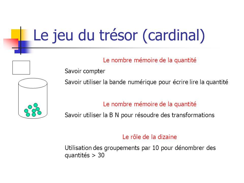 Le jeu du trésor (cardinal)