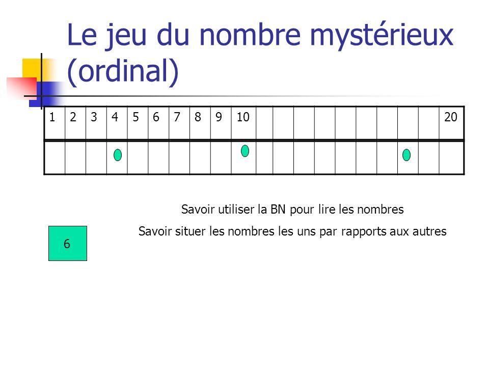 Le jeu du nombre mystérieux (ordinal)