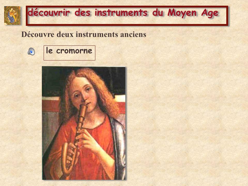 Découvre deux instruments anciens