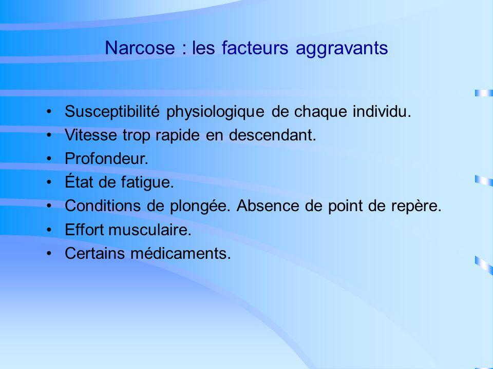 Narcose : les facteurs aggravants