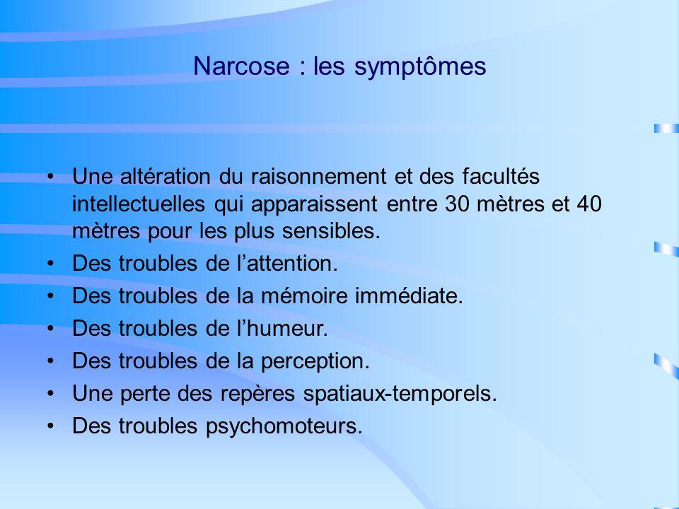 Narcose : les symptômes
