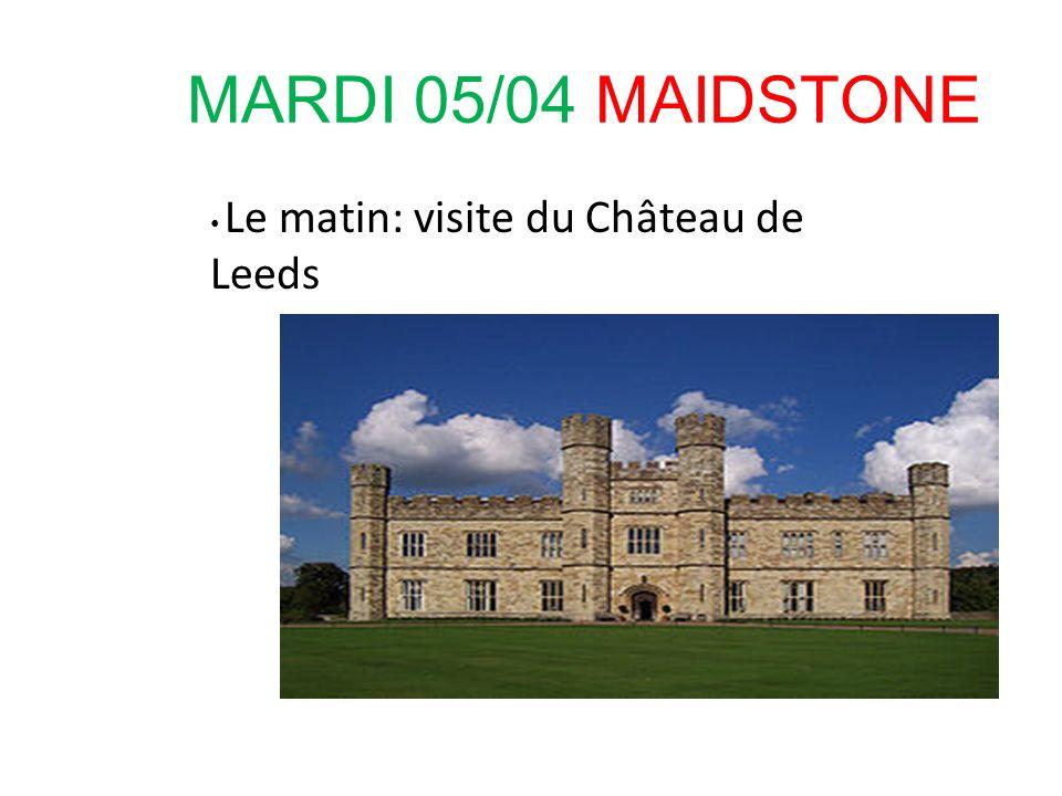 MARDI 05/04 MAIDSTONE Le matin: visite du Château de Leeds 24
