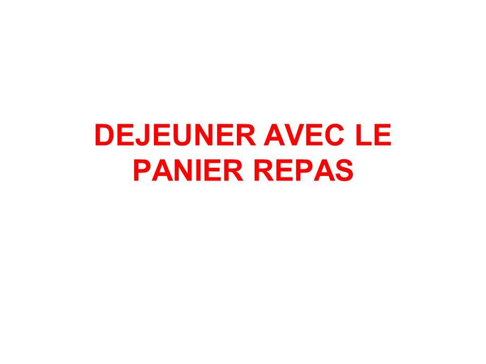 DEJEUNER AVEC LE PANIER REPAS