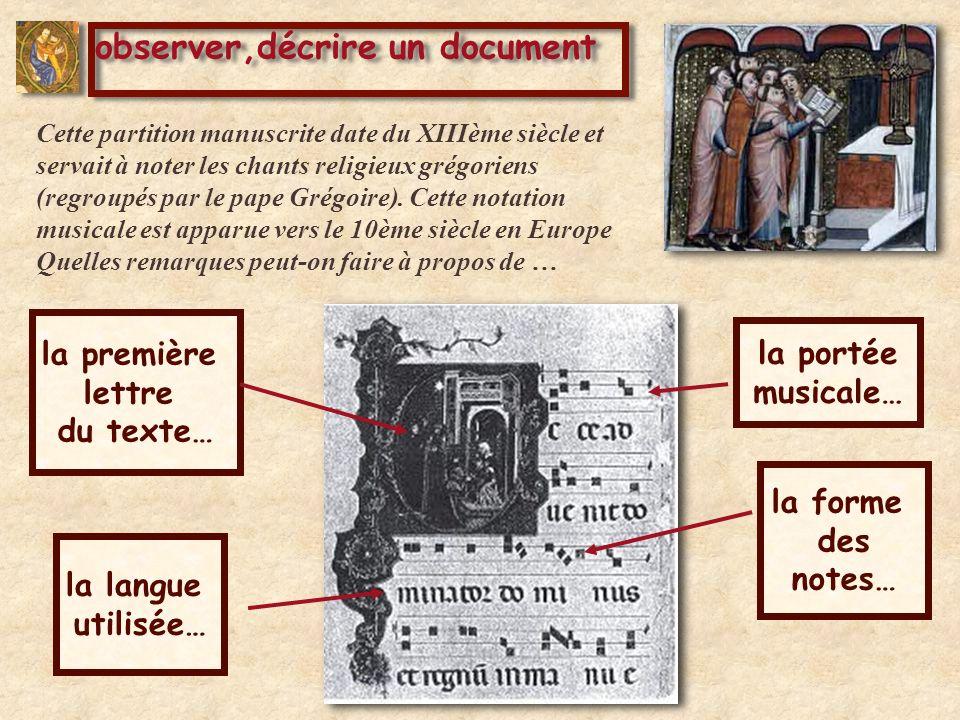 observer,décrire un document