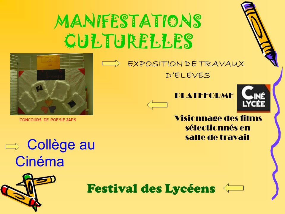MANIFESTATIONS CULTURELLES