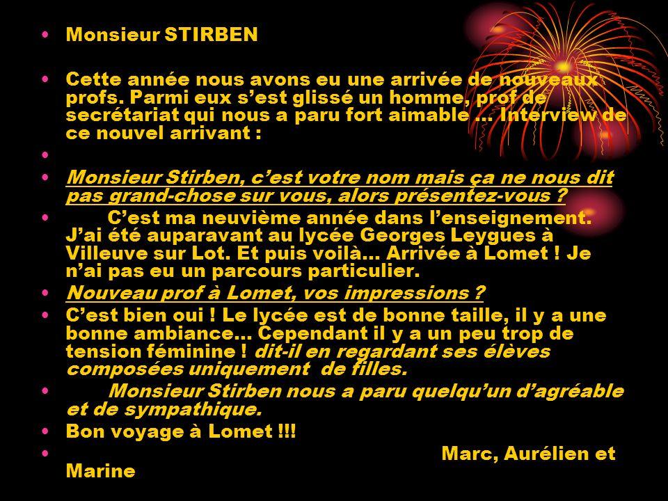 Monsieur STIRBEN