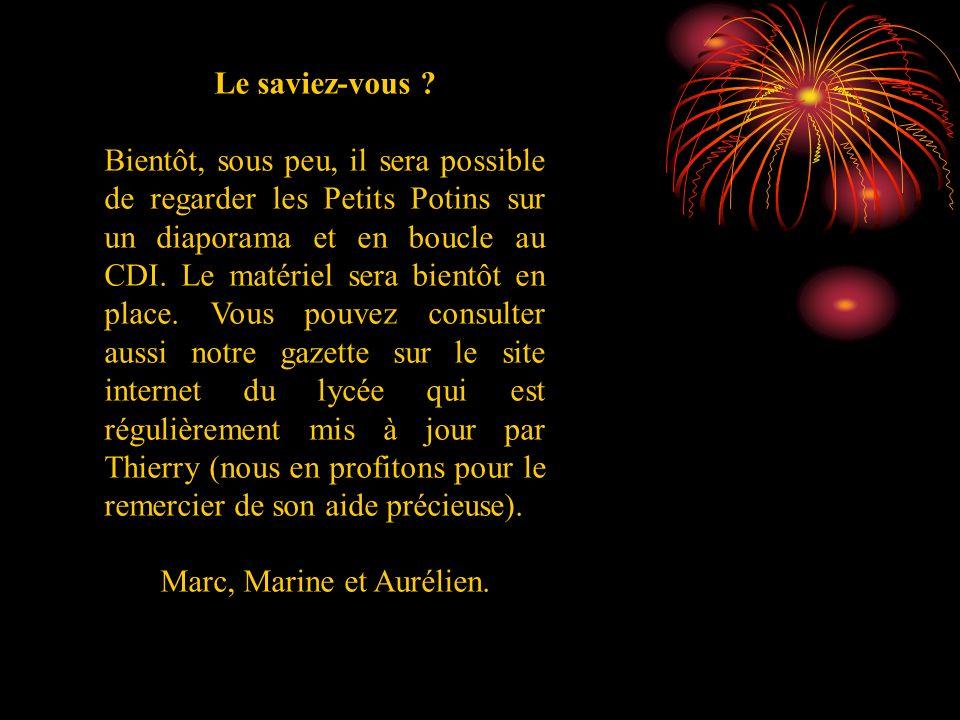 Marc, Marine et Aurélien.