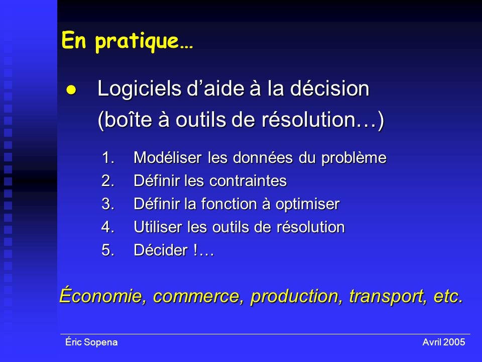 Économie, commerce, production, transport, etc.