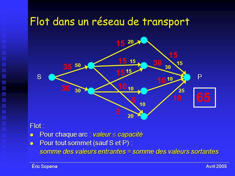 Flot dans un réseau de transport