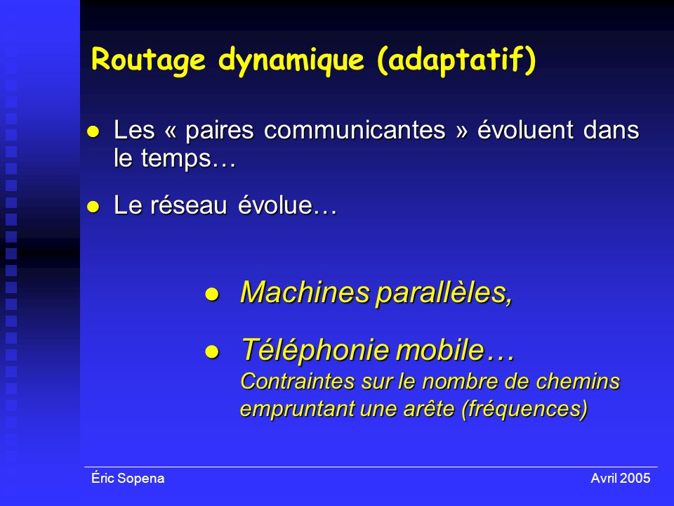 Routage dynamique (adaptatif)