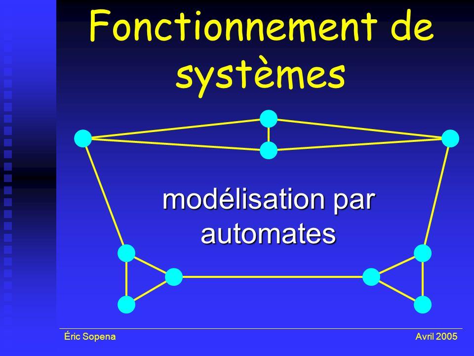 Fonctionnement de systèmes