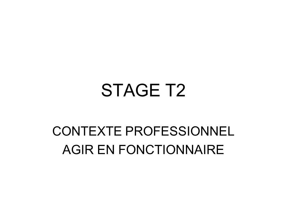 CONTEXTE PROFESSIONNEL AGIR EN FONCTIONNAIRE