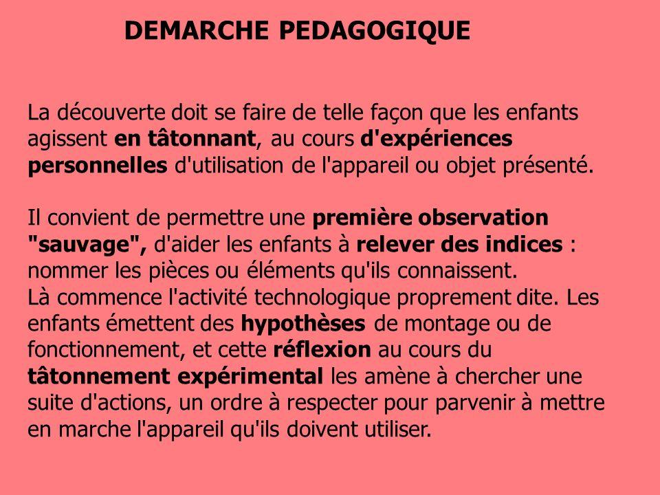 DEMARCHE PEDAGOGIQUE
