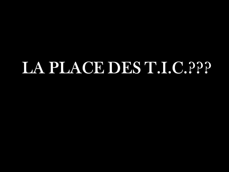 LA PLACE DES T.I.C.